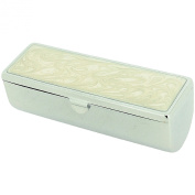 Ivory Pearlised Lip Stick Case Holder With Mirror By TOC.