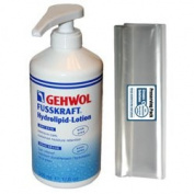 GEHWOL FUSSKRAFT Hydrolipid Lotion for dry skin kit / Intensive care, lasting moisture / Large Salon Size 0,5L 500ml / Largest on Amazon / Comes with preserving pack / Dermatologically tested / Made in Germany