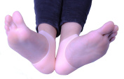 1pair Gel Heel Sleeve Moisturising Silicone Heel Ankle sleeve for Pain Relief Cushion