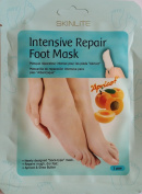"INTENSIVE REPAIRING FOOT MASK ""APRICOT"" - 1 pair * Newly designed ""Sock-type"" mask * Repairs rough, dry feet * Apricot & shea butter"