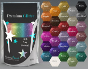Large 100g Premium Glitter Powder Metallic Ultra Fine in ANY ONE colour! For Nails, Crafts, Body