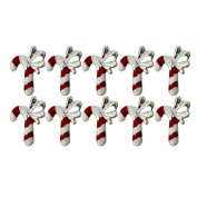 New Xmas 10pcs Gadget Alloy 3D Rhinestone Nail Art Slice Manicure Decoration DIY