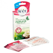 Veet Face Precision Wax Strips - Pack of 20