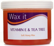 Wax It Soft Honey Wax with Vitamin E and Tea Tree 450g