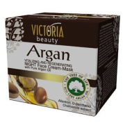 Victoria Beauty Vitalising & Regenerating Night Cream-Mask with Pure Eco Sertified Argan Oil - All Skin Types
