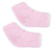 Footful Gel Heel Moisturising Socks/Protectors Foot Spa Treatment for Cracked Heel/Foot Pain Relief---Pink