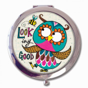 Rachel Ellen Boxed Compact Mirror - 'Looking Good' Owl