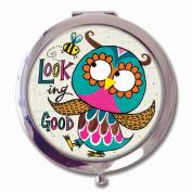 Rachel Ellen Boxed Compact Mirror - 'Looking Good' Owl