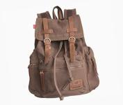 Sanwood Unisex Canvas Backpack Rucksack School Hiking Bag