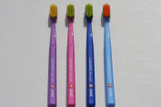 Ultra soft toothbrush, 4 brushes, Curaprox Ultra Soft 5460. Softer feeling & better cleaning, in classic colours for Him & Her.