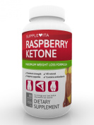 100% PURE RASPBERRY KETONE - Month Supply - Max Strength Fat Burner Slimming Pills That Really Work Fast