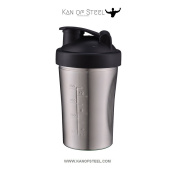Stainless Steel Protein Shaker - Black