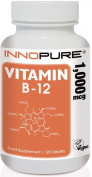 Innopure® Vitamin B12, 1,000mcg | 1 a Day Easy to Swallow Tablets | 4 Month Supply, 120 Tablets
