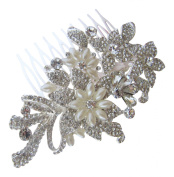 Pick A Gem Wedding Hair Accessories. Elements and Pearl Flower Hair Comb