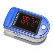 Pulse Oximeter - Portable Digital Blood Oxygen & Pulse Sensor Metre + Alarm - Home Medical & Professional - Fast readings from the finger / fingertip - Use for Adults, Children - Includes Batteries & Lanyard - FDA & CE Approved.