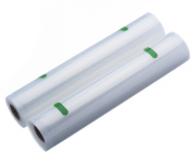 VonShef - Vacuum Food Sealer Bags 22cm x 2 5m Rolls (10m Total) - To be used with a Vacuum Sealer to freeze, store or cook food in a water bath