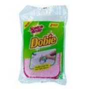 Scotch-Brite Dobie Scrub And White Cloth 2 Ct