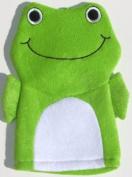 Terry Cloth Bath Puppet / Wash Cloth / Bathmitt / Bath Mitt / Green