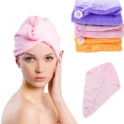 HP95(TM)Super Fast absorbing water dry hair Ponytail Holder Cap towel