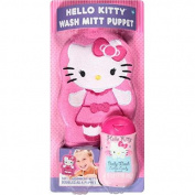 Hello Kitty Wash Mitt Puppet & Body Wash, 2 pc