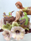 JODY BERGSMA A DREAM WITHIN A DREAM FAIRY HUMMINGBIRDS STATUE FIGURINE