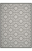 Safavieh CY6115-78 Courtyard Collection Indoor/Outdoor Area Rug, 0.6m by 1.8m, Light Grey/Anthracite