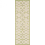 Safavieh CY6115-218 Courtyard Collection Indoor/Outdoor Area Rug, 0.6m by 1.8m, Beige/Sweet Pea