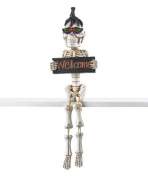 Halloween Accents - 'Welcome' Skeleton Figurine