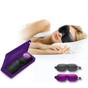Lightweight Adjustable US Patented Sleep-Mask by DRIFT TO SLEEP with 2 Pairs of Superior Ear-Plugs by MOLDEX - The Most Comfortable Complete Sleep-Solution for both Men and Women -The Best Natural Sleep-Aids for Insomnia Sleep Disorders & just a Great ..