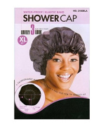 [Magic Collection] 50cm WATER-PROOF SHOWER Cap Black - 2 pack