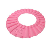 Water & Wood Pink Soft Baby Kids Bath Shampoo Shower Hat Cap