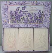 Saponificio Artigianale Fiorentino Tuscan Lavender 3 x 130ml Boxed Soap Set Made in Italy All Natural