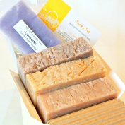 Natural Handmade Soap Gift Set - Honey Almond, Oatmeal Milk & Honey, Cinnamon Honey - with Natural / Organic Ingredients ...Perfect HONEY Gift Set for Your HONEY!!