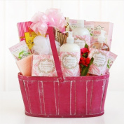 Roses for You Valentines Day Spa Gift Basket | Rosewater and Jasmine Scented