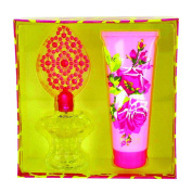 Betsey Johnson Gift Set 100ml Eau De Parfum Spray Plus 200ml Body Lotion for Women