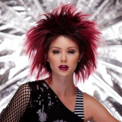 Fashion Wig - Blush Punk, Black Maroon