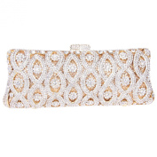 Fawziya Lucky Number 8 Pattern Wedding Party Baguette Clutch Bag