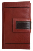 Women's Berry-rust Red Genuine Leather Wallet Kristy.X