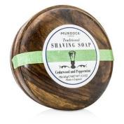 Cedarwood & Peppermint Saving Soap Presented In A Wooden Bowl, 65g/2.3oz
