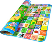GMS 200*180*0.5cm Thickness on Both Sides Waterproof Baby Crawling Mat Baby Crawling Pad/ Game Mat