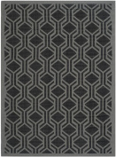 Safavieh CY6114-225 Courtyard Collection Indoor/Outdoor Area Rug, 1.5m by 2.1m, Black/Anthracite