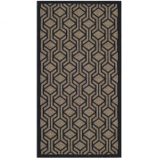 Safavieh CY6114-81 Courtyard Collection Indoor/Outdoor Area Rug, 0.6m by 1.5m, Brown/Black