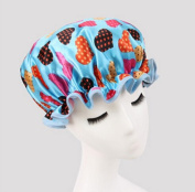 Fashion Design Stylish High Quality Reusable Shower cap with Beautiful pattern and colour (Blue