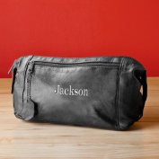 Personalised Leather Travel Kit