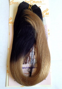 """Tressmatch 20""""(60cm ) Clip in Remy Human Hair Extensions Ombre/Dip Dye Off Black to Caramel Blonde 10 Pieces(pcs) Thick to Ends Full Head Volume Set [Set Weight:160ml/150grams]"""