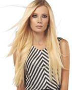 Human Hair Volumizer Halo Extension by She by Socapusa, Dark Chestnut, 2