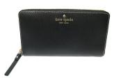 Kate Spade New York Grand Street Neda Black Leather Zip Around Wallet