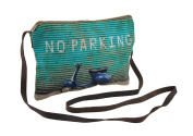 No Parking Scooter Blue And Green Cross Body Purse