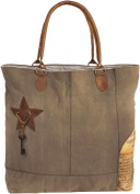 Backroads Newsprint Patch Tote Bag