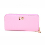Lookatool New Women Korean Cute Bowknot Purse Solid Wearable Wallet Handbag